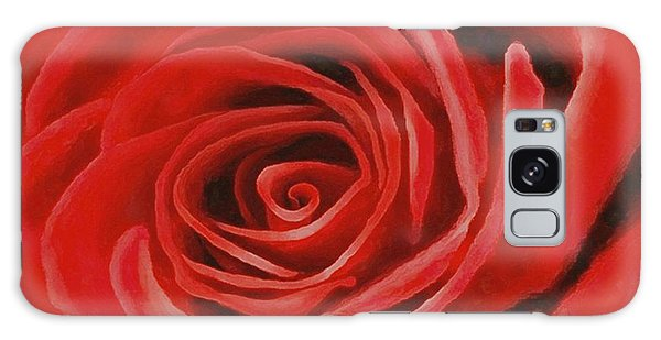 Heart Of A Red Rose Galaxy Case by Sophia Schmierer