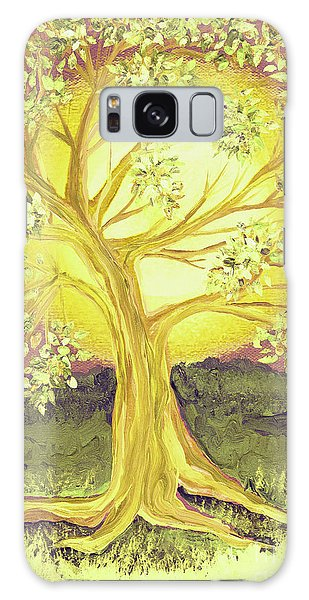 Heart Of Gold Tree By Jrr Galaxy Case by First Star Art