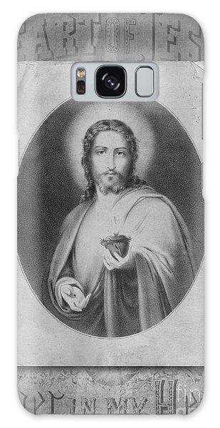 Sacred Heart Galaxy Case - Heart Of Jesus by Edward Fielding