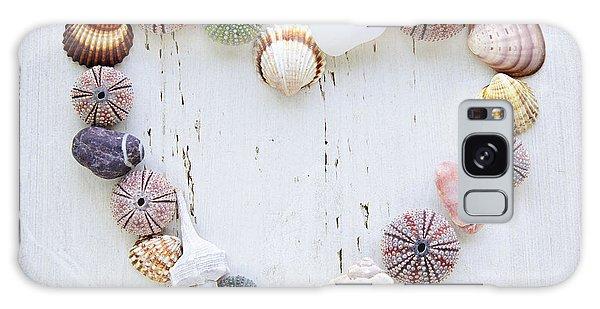 Heart Of Seashells And Rocks Galaxy Case by Elena Elisseeva