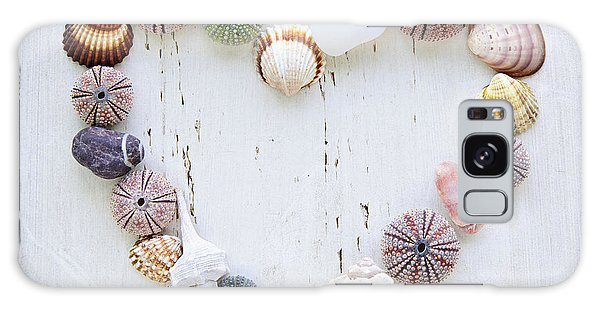 Heart Of Seashells And Rocks Galaxy Case