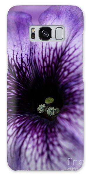 Heart Of The Purple Petunia Galaxy Case