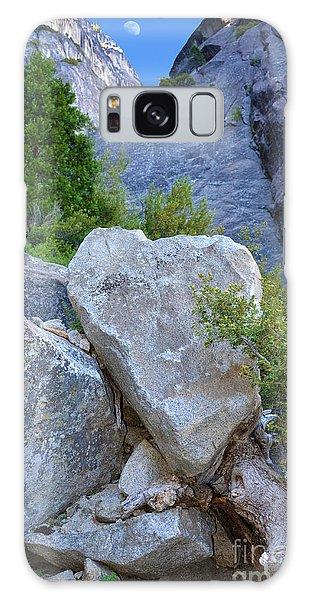 Heart Rock In Yosemite Galaxy Case by Debra Thompson