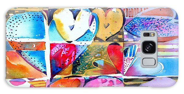 Heart Throbs Galaxy Case by Mindy Newman
