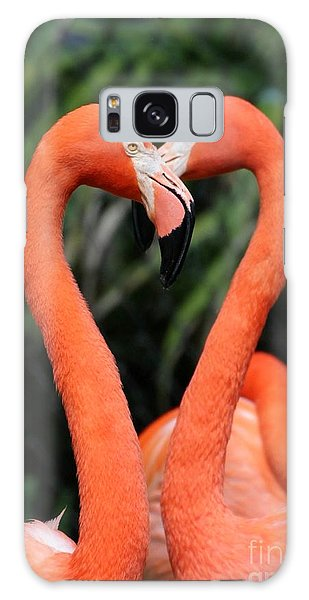 Heart To Heart Flamingo's Galaxy Case