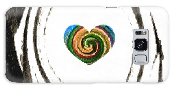 Heart Within Galaxy Case by Catherine Lott