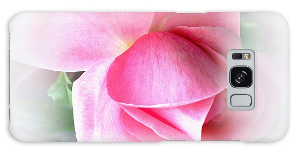 Heartfelt Pink Rose Galaxy Case by Judy Palkimas