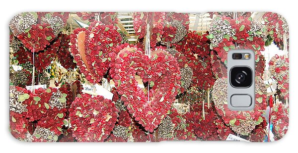 Heart's Full Of Flowers Galaxy Case