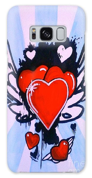 Hearts Galaxy Case by Marisela Mungia