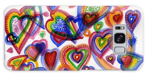 Hearts Of Colour Galaxy Case