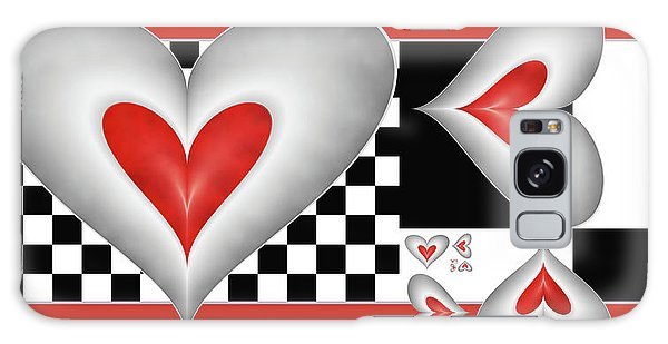 Hearts On A Chessboard Galaxy Case