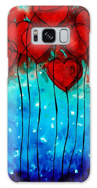 Hearts On Fire - Romantic Art By Sharon Cummings Galaxy Case by Sharon Cummings
