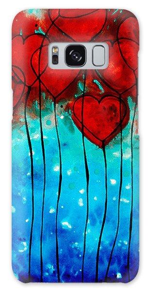 Hearts On Fire - Romantic Art By Sharon Cummings Galaxy Case