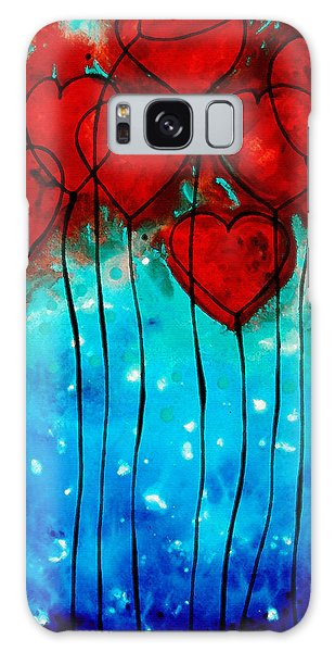 Abstract Landscape Galaxy Case - Hearts On Fire - Romantic Art By Sharon Cummings by Sharon Cummings