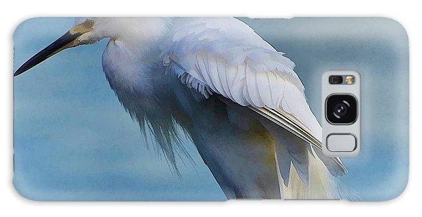Heavenly Egret Galaxy Case by Pamela Blizzard