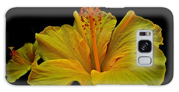 Heavenly Hibiscus Galaxy Case by Eve Spring