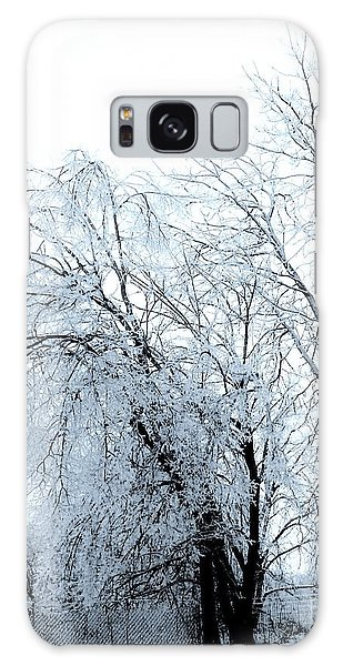Heavy Ice Tree Redo Galaxy Case by Marsha Heiken