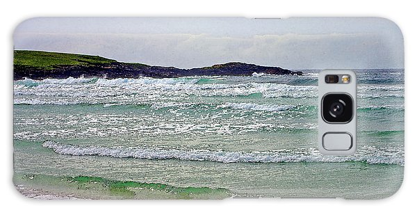 Hebridean Beach Galaxy Case by Jacqi Elmslie