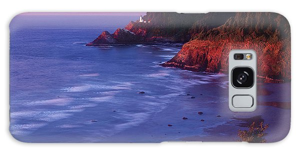 Heceta Head Lighthouse At Sunset Oregon Coast Galaxy Case
