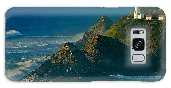 Heceta Head Seascape Galaxy Case by Nick  Boren