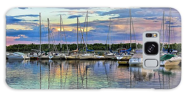 Hecla Island Boats Galaxy Case