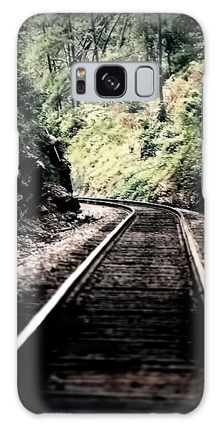 Hegia Burrow Railroad Tracks  Galaxy Case