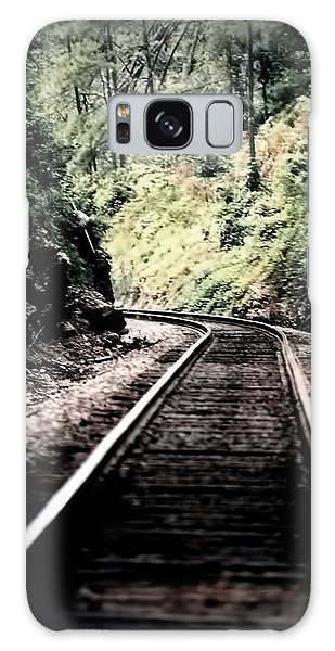 Hegia Burrow Railroad Tracks  Galaxy Case