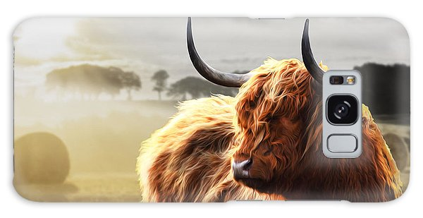 Heilan Coo On Fire Galaxy Case