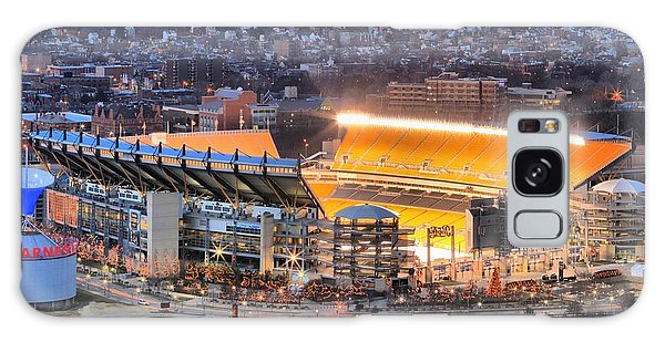 Heinz Field At Night Galaxy Case by Adam Jewell