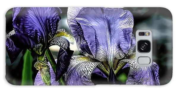 Heirloom Purple Iris Blooms Galaxy Case