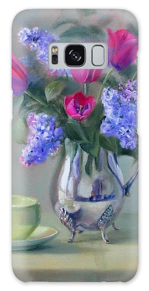Heirlooms- Lilacs And Tulips In A Silver Pitcher Galaxy Case