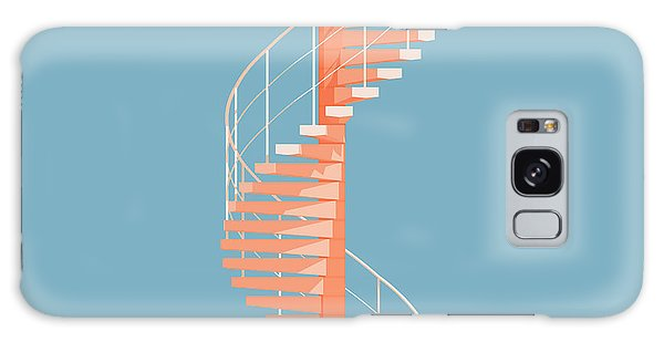 Cityscape Galaxy Case - Helical Stairs by Peter Cassidy