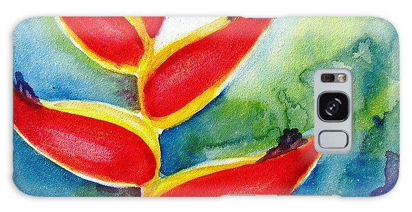 Heliconia - Abstract Painting Galaxy Case by Carlin Blahnik