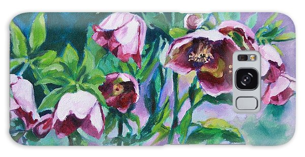 Hellebore Flowers Galaxy Case