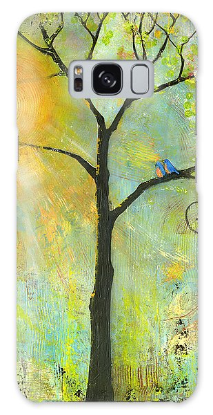 Bluebird Galaxy Case - Hello Sunshine Tree Birds Sun Art Print by Blenda Studio