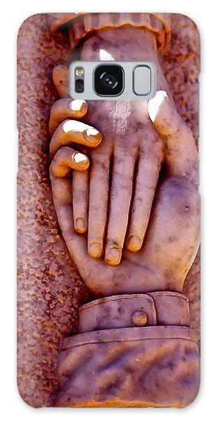 Helping Hand Galaxy Case by Michael Cinnamond