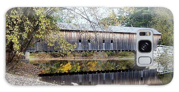 Hemlock Covered Bridge Galaxy Case by Catherine Gagne
