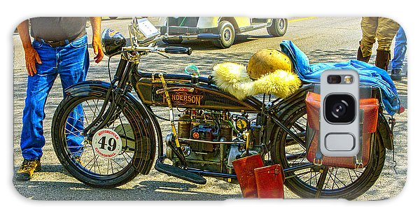 Henderson At Cannonball Motorcycle Galaxy Case by Jeff Kurtz