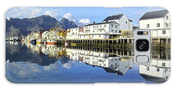 Henningsvaer Harbour Galaxy Case