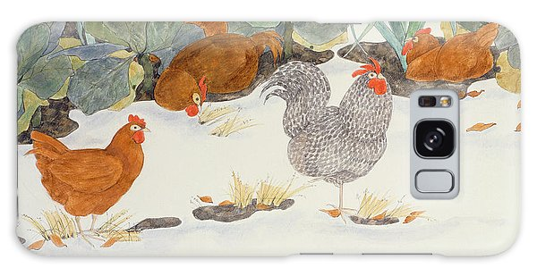 Chicken Galaxy Case - Hens In The Vegetable Patch by Linda Benton