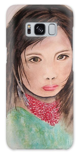 Her Expression Says It All Galaxy Case by Chrisann Ellis