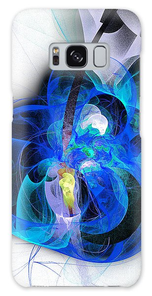 Her Heart Is A Guitar Blue Galaxy Case by Andee Design
