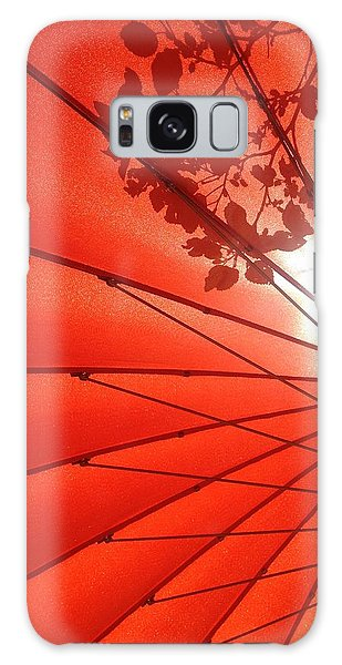 Her Red Parasol Galaxy Case by Brenda Pressnall
