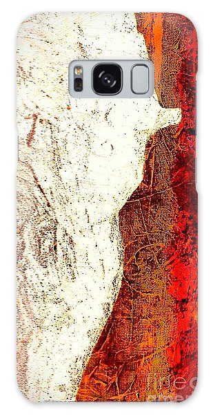 Her Red Silhouette Galaxy Case by Jacqueline McReynolds