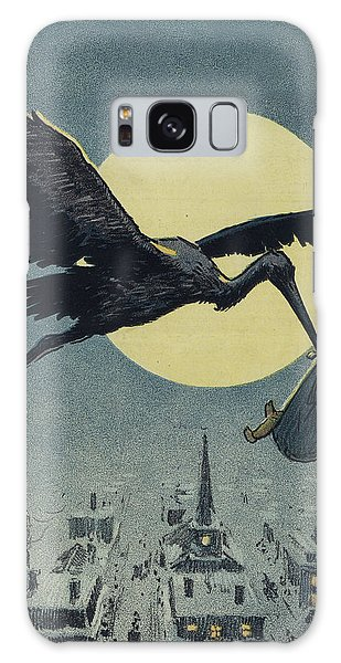 Stork Galaxy S8 Case - Here Comes The Stork Circa Circa 1913 by Aged Pixel