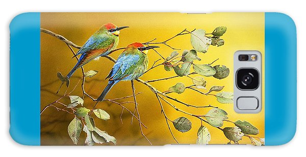Here Comes The Sun - Rainbow Bee-eaters Galaxy Case by Frances McMahon