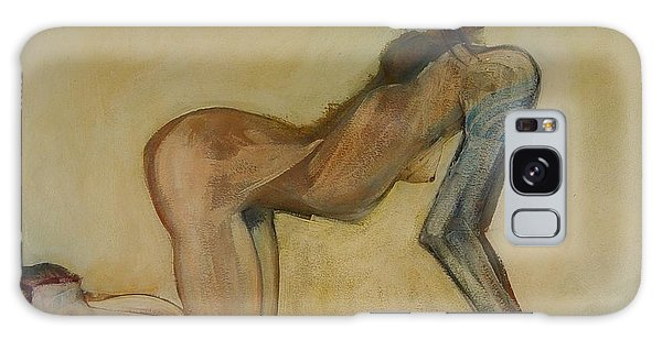 Here Kitty Kitty - Female Nude Galaxy Case by Carolyn Weltman