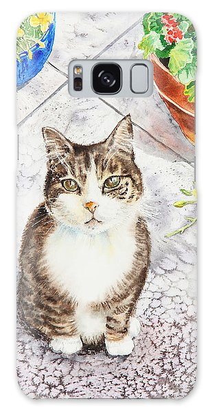 Watercolor Pet Portraits Galaxy Case - Here Kitty Kitty Kitty by Irina Sztukowski