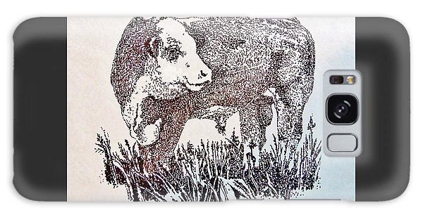 Polled Hereford Bull  Galaxy Case by Larry Campbell