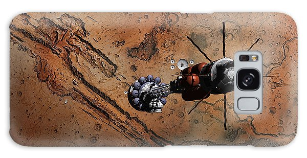 Hermes1 With The Mars Lander Ares1 In Sight Galaxy Case by David Robinson